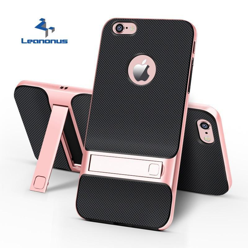 Hybrid Tpu+Pc Phone Case For Apple Iphone 7 Plus 6 6S Plus Xs Max Xr Hard Frame Cover With Bracket Holder For Iphone 7 Plus Capa