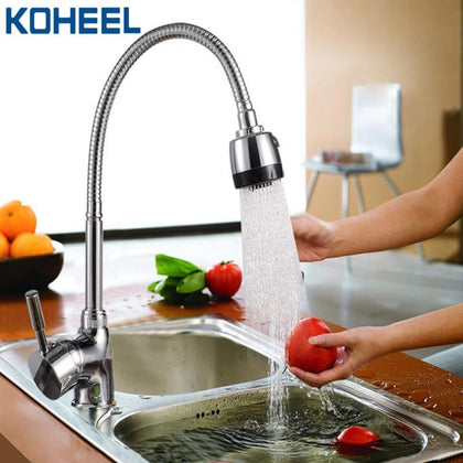 kitchen faucet Brass kitchen Mixer water tap Hot and cold Single Hole chromed faucet robinet cuisine kitchen sink tap