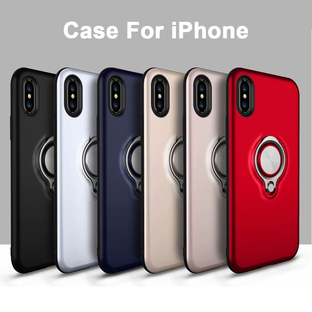 For Iphone Xr X Luxury Car Magnet Hide Ring Stand Holder Phone Ring Case For Iphone Xs Max 5S 6 S 7 Plus For Iphone 8 Plus Coque