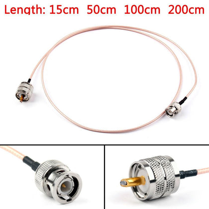 Areyourshop RG316 Cable BNC Male Plug To PL259 UHF Male Crimp Jumper Pigtail 6ft FPV 15cm 50cm 100cm 200cm 50Ohm Cable