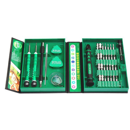 LAOA Precise Screwdrivers Set 38 in 1 Repair Tools Kit Tools Repair for Cell Phones Iphone Clock Watch LA613138