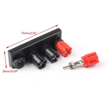Areyourshop 4 Female Banana Plug Terminal Binding Post for Speaker Amplifier 1/3PCS High Quality Plug Jack Connector