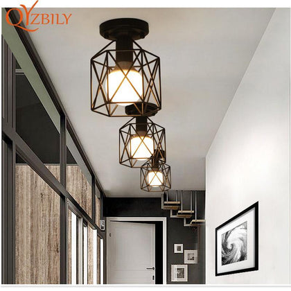 ceiling lights Iron modern ceiling lamps for living room  industrial decor E27 led light fixture restaurant lamp modern lantern