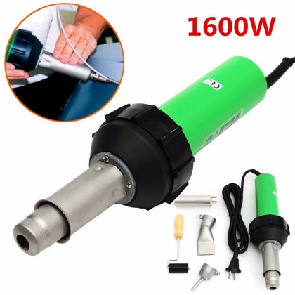 220V 1600W 50Hz Electronic Heat Hot Air Torch Plastic Welding Welder Torch + Nozzle + Pressure Roller 3000Pa