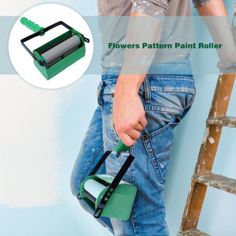 5 Inch Flowers Pattern Paint Roller Rodillo Para Pintar Rollers For Wall Decoration Rouleau De Peinture Art Brush Tool