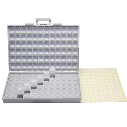 AideTek SMD Resistor Capacitor Beads Storage white Box Organizer plastic toolbox Electronics Storage Cases & Organizers BOXALL