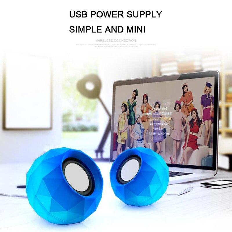 Mini Computer Speakers Good Sound Pc Usb Power 3.5Mm Aux 1.2M Cable Breathe Led Music Laptop Speaker For Phone For Notebook