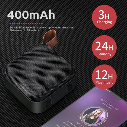 HANXI T5 Wireless Bluetooth Mini Speaker Stereo Portable Speakers Subwoofer Bluetooth 4.2 with SD FM Outdoor Column Loudspeaker