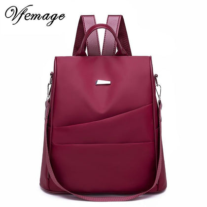 Vfemage Anti Theft Backpack Women Multifunction Backpack Female Oxford Bagpack School Bags for Girls Daypack Sac A Dos mochila