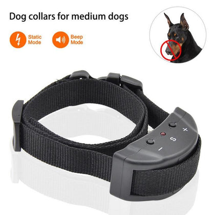 Pet Dog Training Collar Anti Bark No Barking Device Tone Shock Training Collar Adiestramiento Perro Collier Anti Aboiement Chien