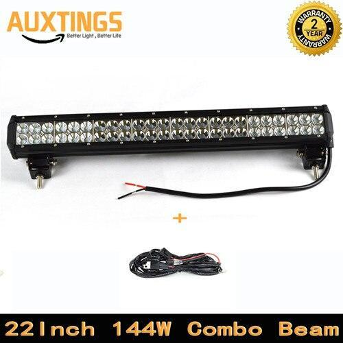 1X 144W 22Inch Combo Beam Led Light Bar Offroad 4Wd Suv Atv 4X4 Driving Light Car Led Work Light