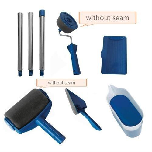 8Pcs/Set Seaming Paint Roller Brush Tools Set Household Use Wall Decorative Handle Flocked Edger Tool Painting Brush