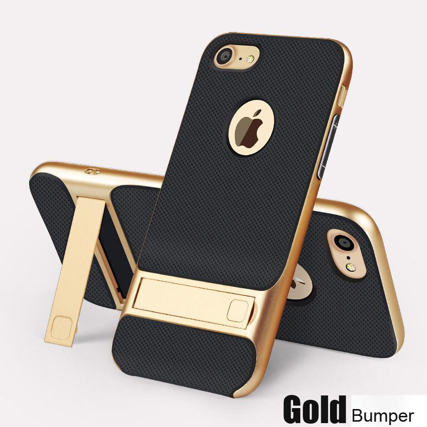 For Apple Iphone 6 6S S 7 8 Plus + Cases Luxury Shockproof Rugged Hybrid Stand Case For Iphone 8 Plus 7 6S  6 Full Phone Cover