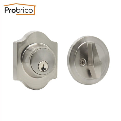 Probrico Single Cylinder Deadbolt Dead bolts Contemporary Style Keyed Door Locks Anti-theft Universal Lockset Security Hardware