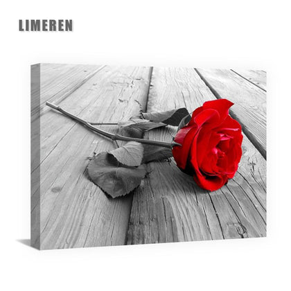 13 styls Red Gray Flowers Street Landscape Art Pictures Oil Painting By Numbers DIY Drawing On Canvas For Home Decor Unique Gift