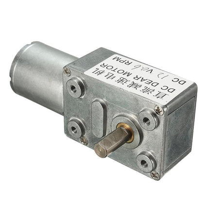 12V DC Geared Motor 0.6RPM High Torque Low Speed Turbo Worm 370 Right Angle US