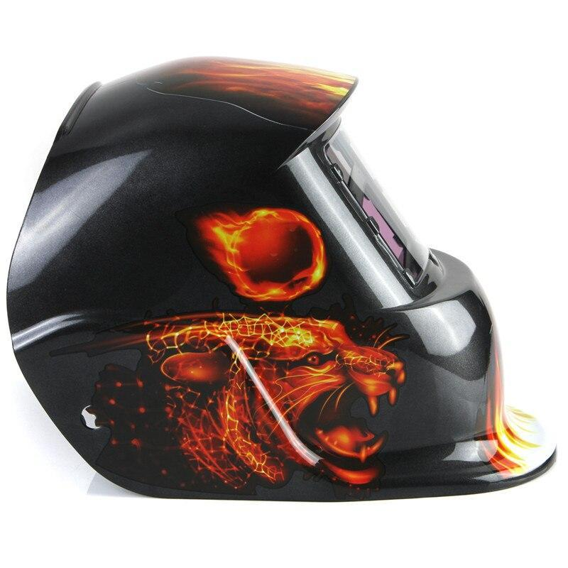 Brand New Best Price Adjustable Welding Helmet Leopard Solar Energy Automatic Darkening Electrical Welding Helmet Mask