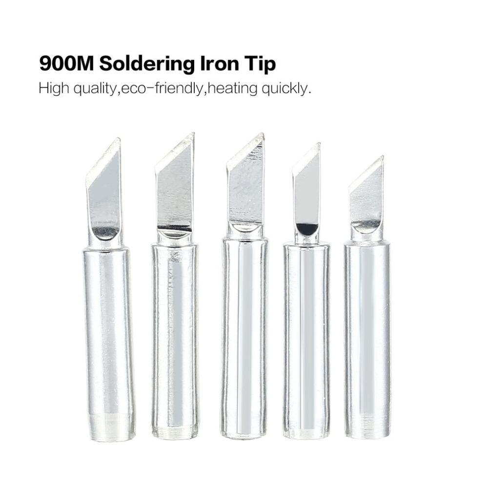 5Pcs 900M Solder Soldering Iron Tip Replacement Rework Station Tool Copper Lead-Free Welding Head Bits Electric Diy Repair
