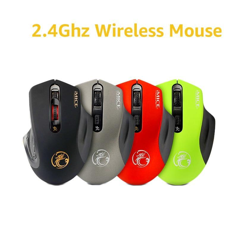 Imice Usb Wireless Mouse 2000Dpi Adjustable Usb 3.0 Receiver Optical Computer Mouse 2.4Ghz Ergonomic Mice For Laptop Pc Mouse