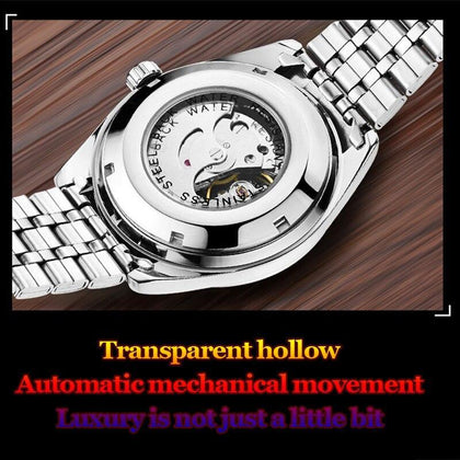 2019 Mens Top Brand Luxury Watches Male Luminous Calendar Waterproof Wrist Watch Stainless Steel Automatic Mechanical Wristwatch