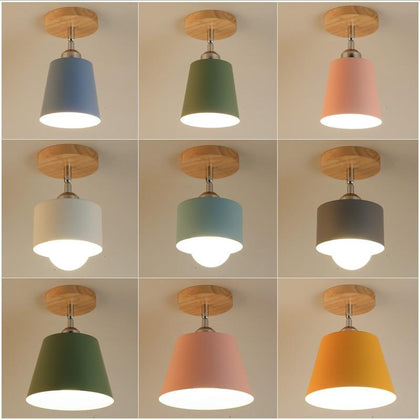 Led Ceiling Light Modern Wood Ceiling Lamp Vintage Plafondlamp Living Room Colorful E27 Plafonnier Lamparas Techo Deckenleuchten