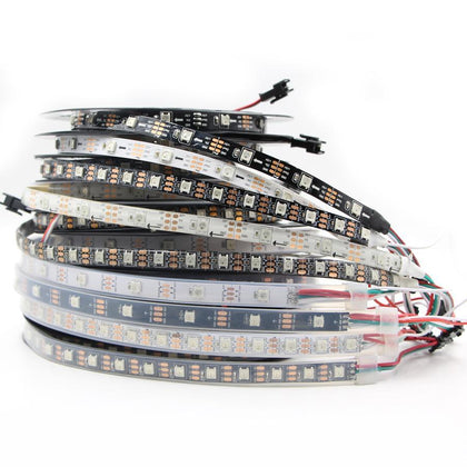 LED Pixel Strip light 5V WS2812 WS2812B Individually Addressable RGB Smart Pixels Strip WS2812 IC Waterproof led band led stripe