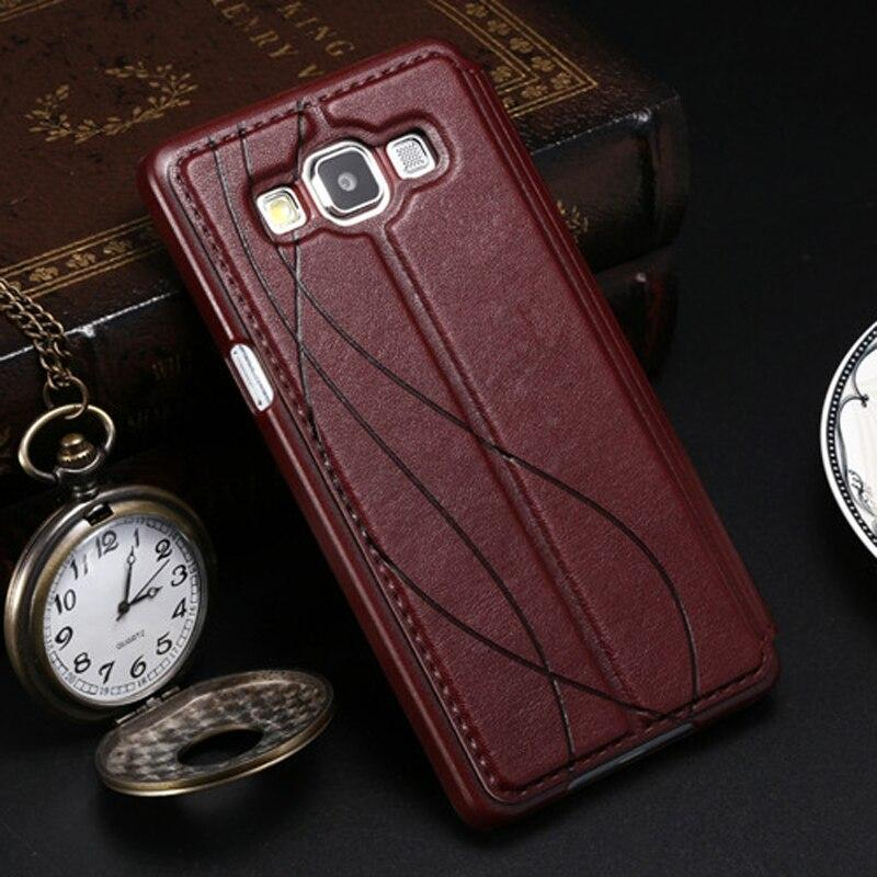 Flip View Window Leather Cases For Samsung Galaxy A3 A5 A7 2015 2016 2017 A300F A500F A310F A510F A710F Case Luxury Phone Cover