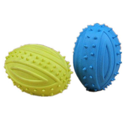 OnnPnnQ Pet Small Dog Treats Rugby Puppy Interactive Toy Ball Cat Toy for Large Dog Chew Hedgehog Toy Tooth Cleaning Bite Ball