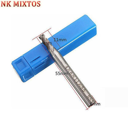 NK MIXTOS 1PCS 4 Flute End Mill  Mills Milling Cutter Straight Shank CNC Tools Cutting Edge Diameter 4/6/8/10/12/16/20mm