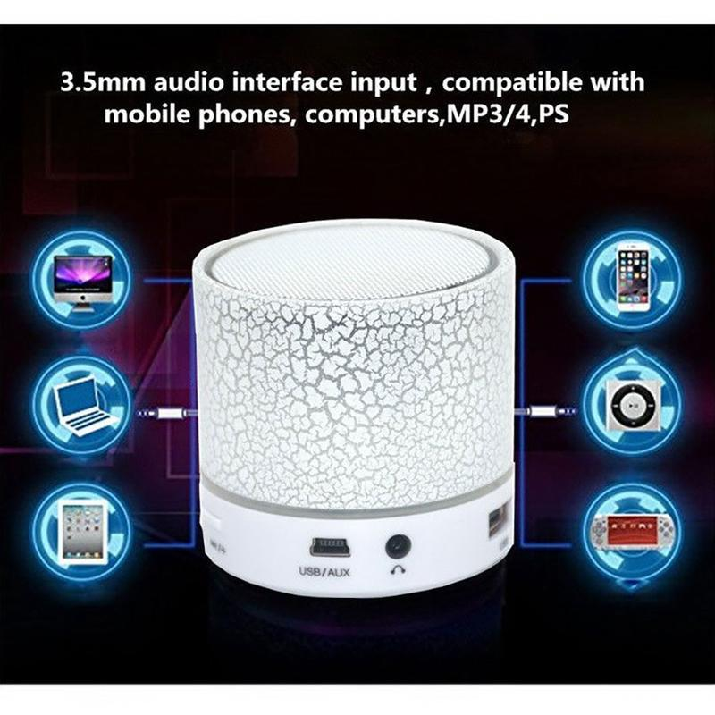 Led Speaker Bluetooth Handsfree Wireless Speakers Hifi Stereo Super Bass Speaker Portable Bluetooth Speaker For Mobile Phone