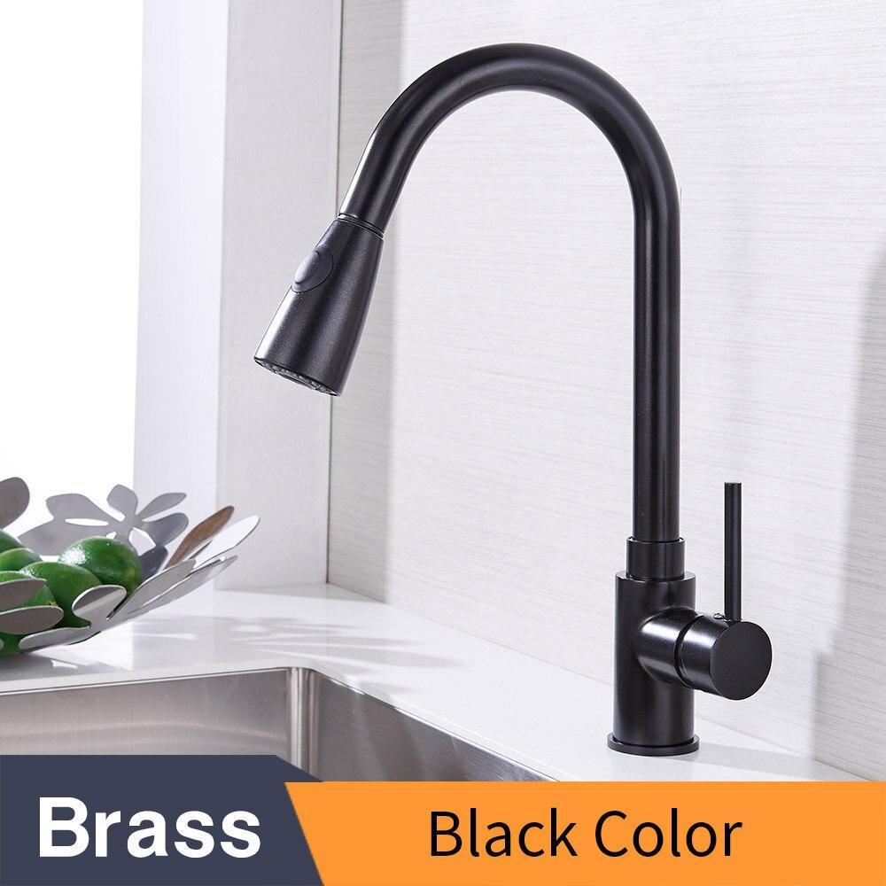 Kitchen Faucets Silver Single Handle Pull Out Kitchen Tap Single Hole Handle Swivel 360 Degree Water Mixer Tap Mixer Tap 408906