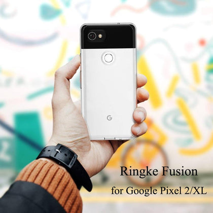 Ringke Fusion for Google Pixel 2 Clear PC Back Cover and Soft Frame Hybrid for Pixel 2