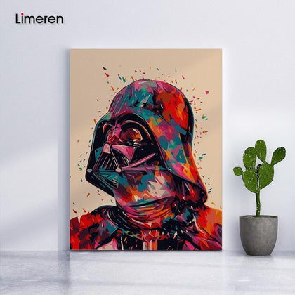 Star Wars 7 Darth Vader DIY Oil Digital Painting By Numbers On Canvas Hand Painted Movie Wall Art Picture Living Room Home Decor