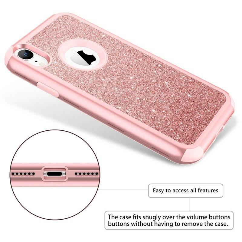 Luxury Hard Case For Iphone Xr Xs X Max Case Glitter Bling Crystal Pc Cover For Iphone 7 6 6S 8 Plus Case Silicone Cute Girls