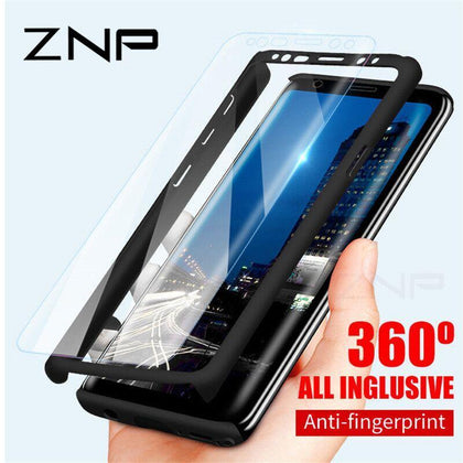ZNP 360 Full Protective Phone Case For Samsung Galaxy S10 S9 S8 Plus S7 Edge Cover Case For Galaxy Note 9 8 S10E S9 With Glass