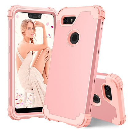 Shockproof Protective Phone Cases For Google Pixel 3 XL Case Full-Body Cover 3 in 1 Hybrid Hard PC & Soft Silicone Heavy Duty