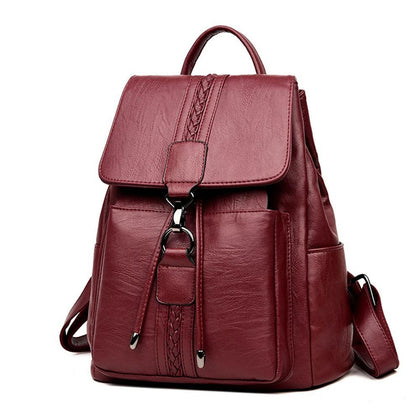 Hot 2018 Casual TIE Women Backpack High Quality Leather Backpacks for Teenage Girls Female School Shoulder Bag Bagpack mochila