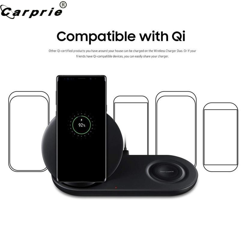 2 In 1 Fast Charging Wireless Charger Pad For Samsung Galaxy S10/S10/S2/S3 For Iphone X/8 Watch & Smart Phone 90305