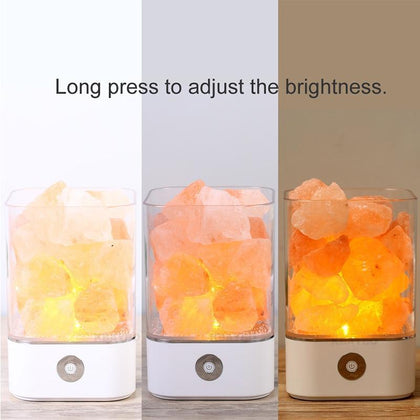 USB Crystal Light natural himalayan salt lamp Mood Creator led Air Purifier Mood Creator Indoor lava decorative table lamp bedsi