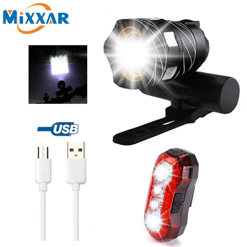 Zk30 16000Lm 3000Mah Led Usb Rechargeable Outdoor Zoomable T6 Bicycle Light Bike Front Lamp Torch Headlight