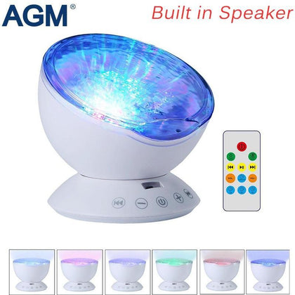 AGM Ocean Wave Starry Sky Aurora LED Night Light Projector Luminaria Novelty Lamp USB Lamp Nightlight Illusion For Baby Children