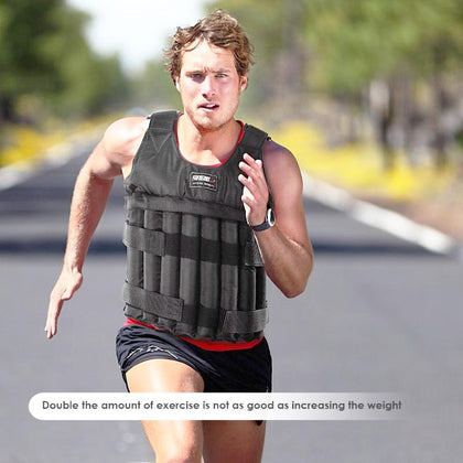 Max 20/50 kg  Loading Weighted Vest Jacket Load Weight Vest Exercise Boxing Training Fitness Equipment for Running 2019