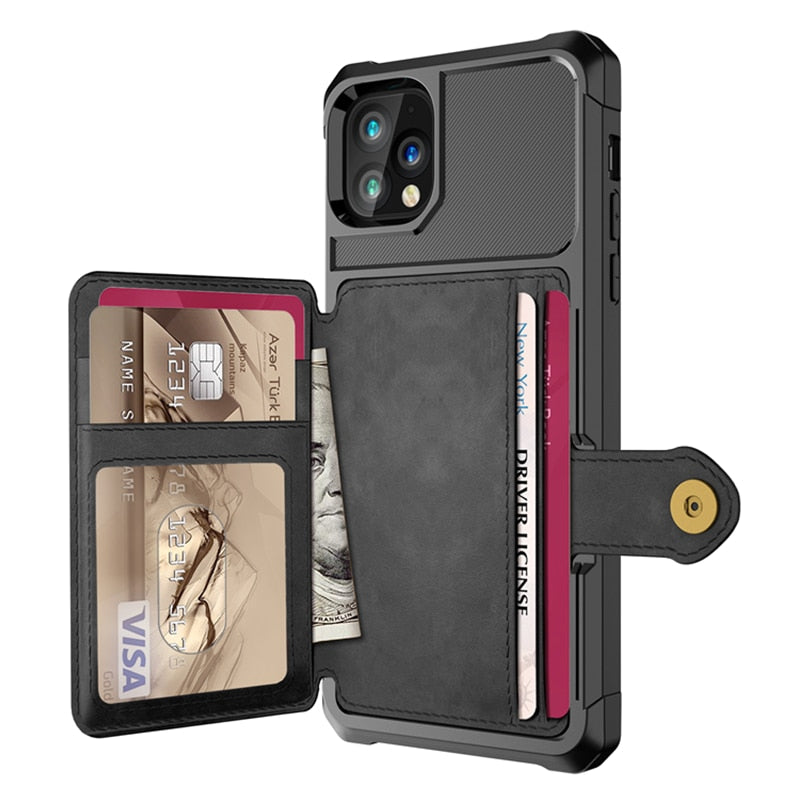 Retro Flip PU Leather Case For iPhone 11 Pro Max XR 7 8 6S 6 Plus XS Max X Multi Card Holder  Phone Cases Wallet Cover Shell