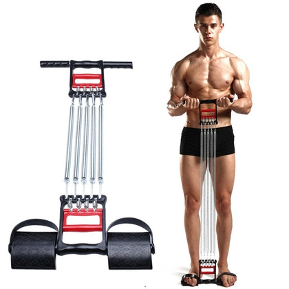 Spring Chest Developer Expander Men Tension Puller Fitness Stainless Steel Muscles Exercise Workout Equipment Resistance Bands