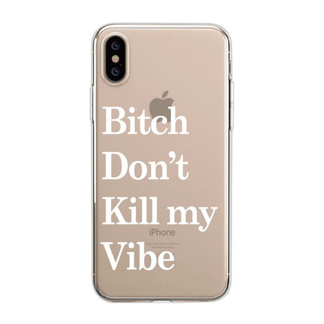 Positive Good Vibe Happy Trust Funny Quote Soft Phone Case Fundas Coque Cover For iPhone 11 Pro 7Plus 7 6 6S 8 8Plus X XS Max