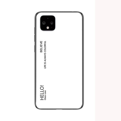 For Google Pixel 4 XL 2019 Case Tempered Glass Luxury Gradient Soft Silicone Frame Cover For Pixel 4 Pixel4 4XL 2019 Phone Case