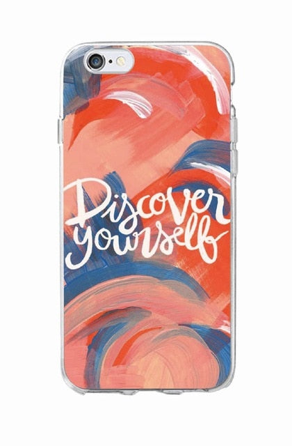 Positive Good Vibe Only Love Happy Trust Quote Soft Phone Case Cover For iPhone 11 Pro XR 7Plus 7 6 6S 8 8Plus X XS Max
