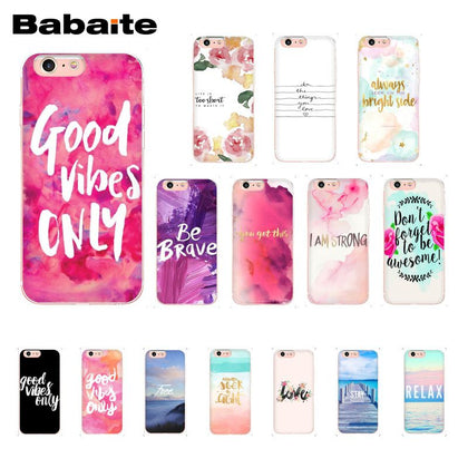 Positive Vibes Phone Cases for iPhone |  Love Happy Quote Phone Case for iPhone