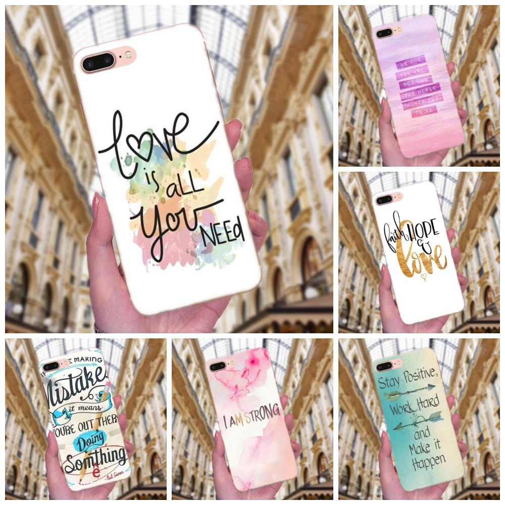 Positive Good Vibe Only Love Happy Trust For Xiaomi Redmi Note 2 3 3S 4 4A 4X 5 5A 6 6A Pro Plus Soft TPU Phone