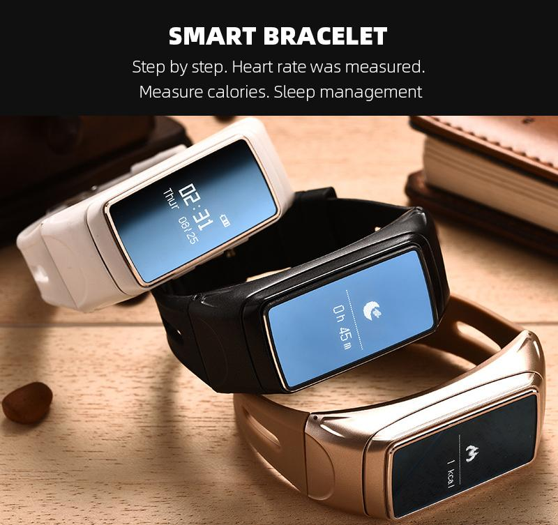 B7 smart bracelet, Bluetooth headset, two in one, can answer the phone, step by step alarm clock, wear gifts